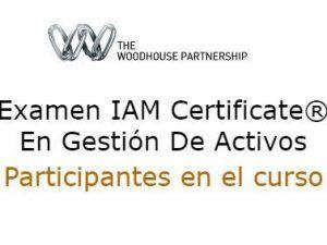 Calendario Examenes Derecho Us.Examen Iam Certificate En Gestion De Activos Participantes Curso